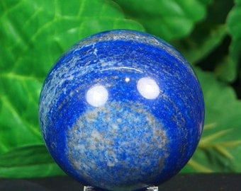Lapis lazuli sphere hand carved  hand polished mineral specimen  260 Grams from Afghanistan