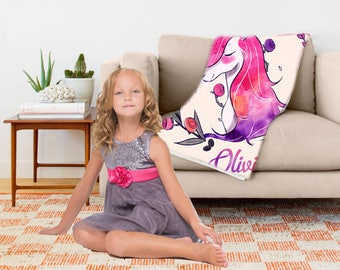 Unicorn Gift Blanket -  Personalise - Unicorn Gift Blankets - Ultra Soft Throw Blanket Available in 3 Sizes