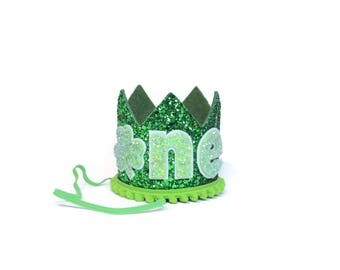 Saint Patrick's Day First Birthday Crown || March Birthday Party Hat || Shamrock Birthday Crown || St Pattys Day Party Hat Crown