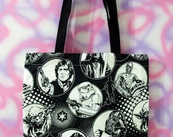 Black and White Star Wars Tote Bag