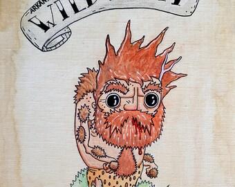 Arkansas Wild Man print, sideshow, freakshow, carnival, horror, freaks, side show