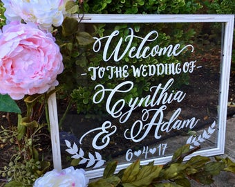 Acrylic Wedding Welcome Sign • Welcome to the Wedding of Acrylic Sign • Acrylic Wedding Sign • Acrylic Sign