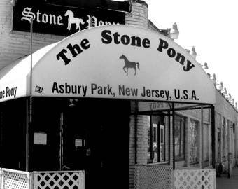 5 x 7 PRINT, Stone Pony photo with 8 x 10 mat, Jersey Shore, Asbury Park, Bruce Springsteen