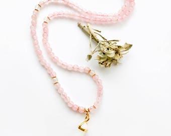 Mala Necklace, Japa Mala, Healing Stones, 108 Mala, Rose Quartz Mala, Meditation Mala, 108 Mala Beads, Yoga Mala, Prayer Beads, Mala, MRQP