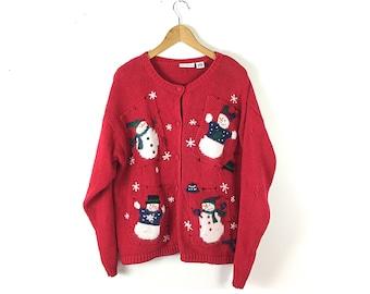 Ugly Christmas sweater, vintage Christmas sweater, Tacky Christmas,   Christmas sweater, xl sweater,