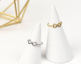 Sterling Silver Infinity Ring • Gold Infinity Ring • Dainty Silver Ring • Infinity Jewellery • Sterling Silver Ring • Friendship ring