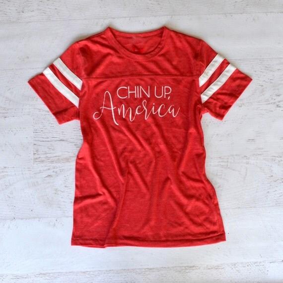 Chin Up, America Tee - The Big Boo Cast