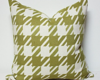 Green Checker pillow cover, Houndstooth pattern pillow cases, Beige and green pillow cover, gingham pattern pillow cover, christmas pillow