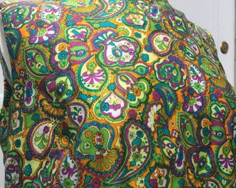 Psychedelic 60s Debros paisley groovy sleeveless top mod