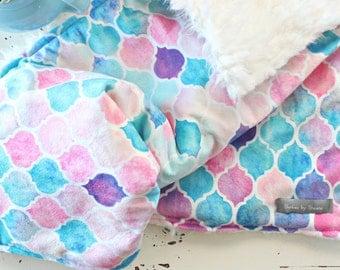 Baby Blanket - Moroccan Blanket - Mermaid Blanket - Rainbow Blanket - Chic Blanket - Modern Blanket - Swaddling Blanket - Moroccan Toddler