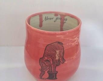 Porcelain Elephant Cup