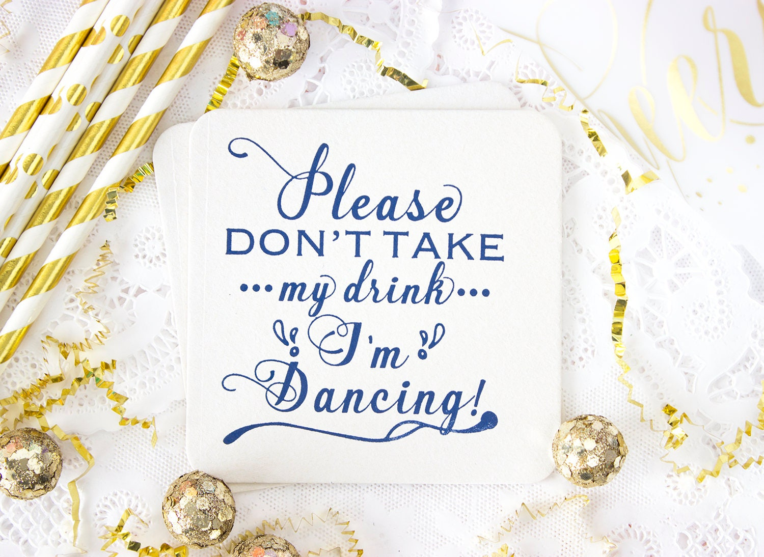 Please Don\'t Take My Drink I\'m Dancing Coasters, Wedding Coasters ...