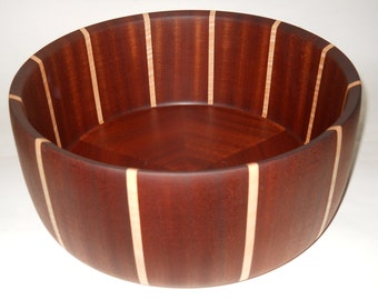 Sapele and Curly Maple Salad Bowl
