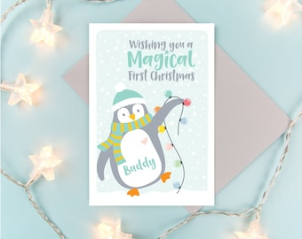 First Christmas Card // Personalised First Christmas Card // Baby's First Christmas Card // Personalised Christmas Card // First Christmas
