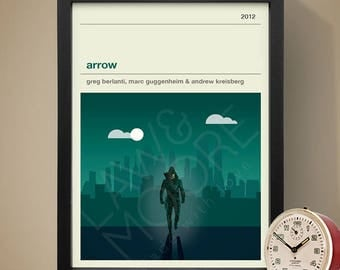 Arrow TV Poster, TV Print, Print, Poster