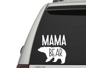 Mama Bear Decal for Yeti - Mama Bear Car Decal - Momma Bear - Mom Decal - Car Window Decal - Laptop Decal - FREE SHIPPING with code