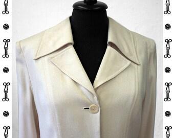 SALE !!! COAT SILK, blazer, lining, pockets, wedding, structure, long jacket, coat, texture