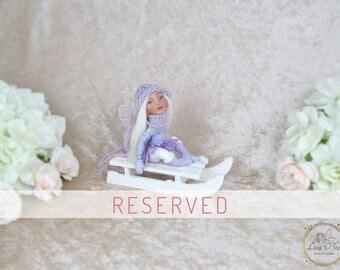RESERVED - OOAK Fairy - Art Doll - Fairy Figurine - Fairy Sculpture - Lilaé