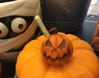 Halloween Pumpkin Jack O Lantern Miniature Sculpture Figurines