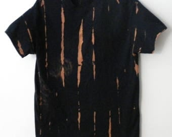 Tie dye T Shirt, Acid wash T shirt, Black Shirt, Grunge, Crop Tee shirt, retro, hipster, dip dye, Galaxy Top, Graphic,Urban, vintage, Rave