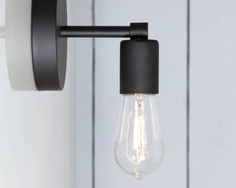 Matte Flat Black Sconce - Wall Light