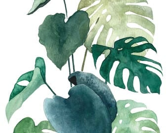 A5 Art Print / Postcard, Botanical #04, Illustration, Watercolor