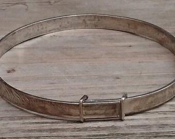 Vintage sterling silver childs slide bangle