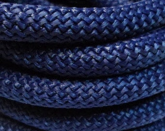 """24"""" Braided 10mm Nylon Cord for Jewelry Making Craft Supplies, Blue,"""