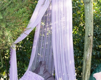 Lilac Baldachin -  Play Canopy, Crib Canopy, Kids canopy, Nursery canopy, Bed canopy, Play room canopy, Hanging Canopy, Nook, Photo
