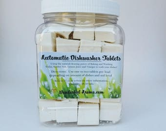 Automatic Dishwasher Tablets, Natural, Non-toxic, Deliciously fragrant!