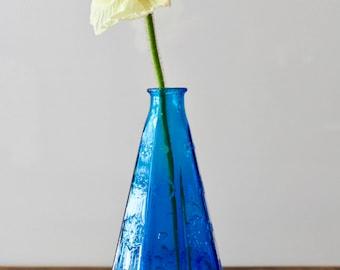 Bohemian Blue Glass Vase