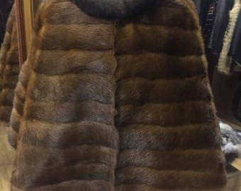 Exclusive fur poncho