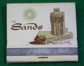 Vintage  the Sands Casino Matchbook Las Vegas Hotel Matches Front Strike Matchbook -