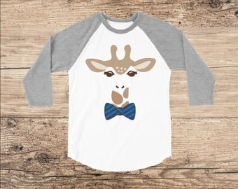 Giraffe Shirt with Bow Tie, Toddler Clothes