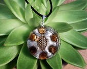 Tiger's Eye Orgone Pendant - Solar Plexus Chakra - Empath Jewelry - Orgone Necklace - Medium