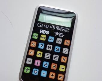 Rare Collectible Plastic Calculator Game of Thrones Logo Souvenir Exclusive HBO TV Show Memorabilia