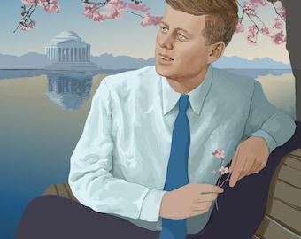John F. Kennedy Poster (A3)