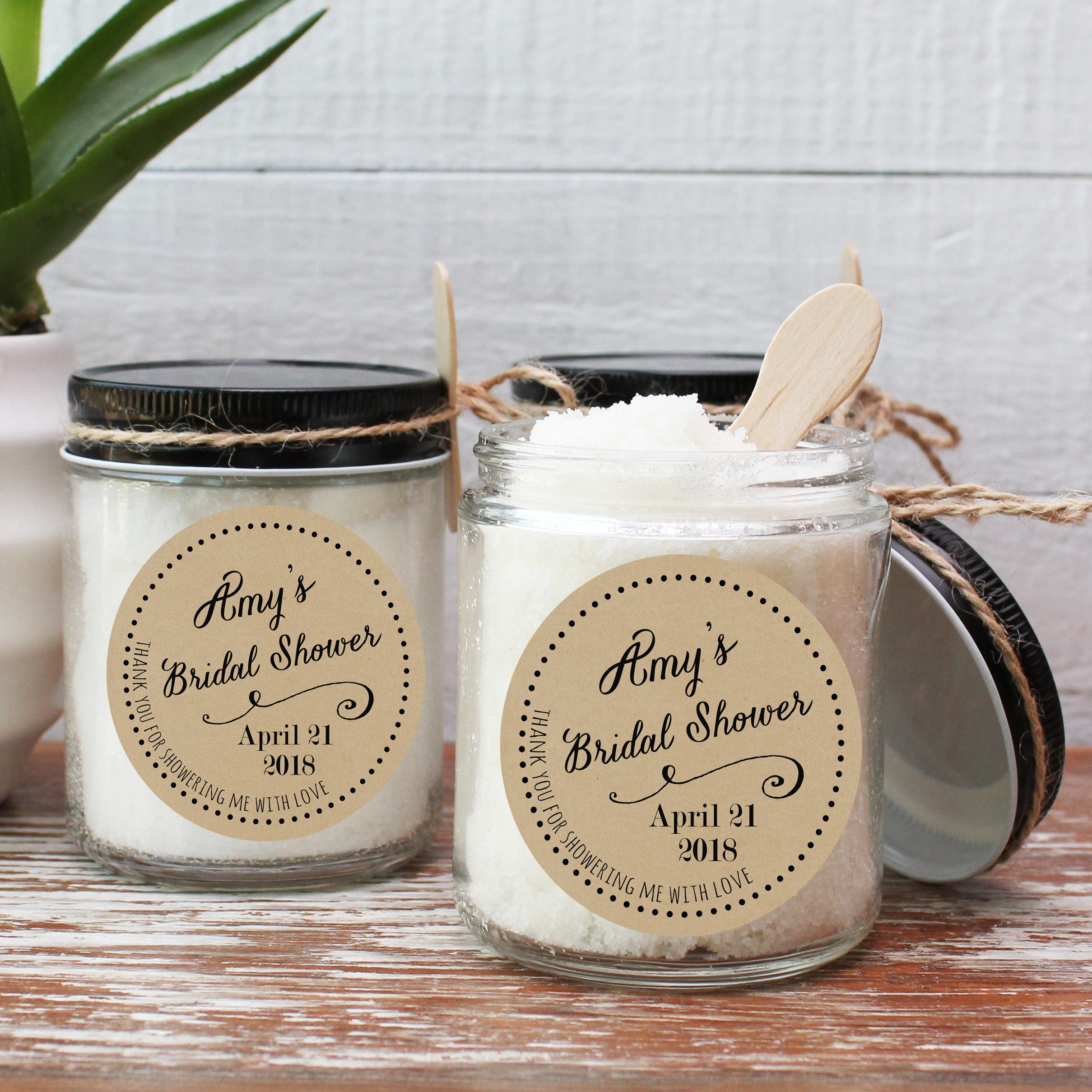 Set of 6 8oz Sugar Scrub Favors Bridal Shower Favors