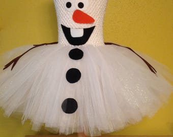 Olaf Inspired Tutu Dress Size 2T-3T Ready to Ship!