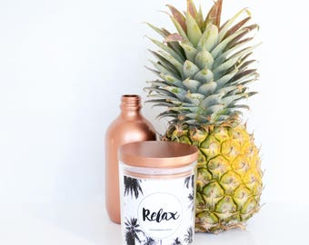 "Coconut Cream ""Relax"" Hand Poured Soy Large Candle"