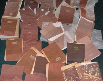 45 pair seamed vintage nylon stockings sizes 8 1/2 - 10 white grey beigetones taupe