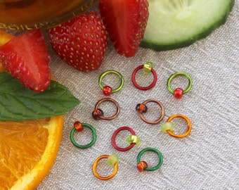 Stitch Markers - SUMMER CUP - notions, knitting markers, ring stitch markers, knitting tools, Start of Summer Collection