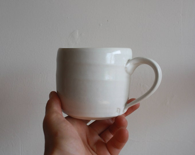 Coffee Mug - Pocelain White - KJ Pottery