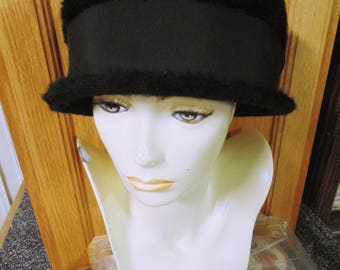 Black Fur Hat, by Evelyn Varon Exclusive
