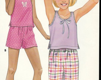Girls' Tops, Pants and Shorts, Easy Simplicity 9785 Sewing Pattern, Multi-Size 7, 8, 10, 12, 14, Uncut, Factory Folds