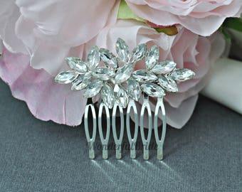 bridal hair comb, Rhinestone  hair comb, Wedding Headpiece,weeding  hair comb,wedding accessory,crystal comb, HC037 tes