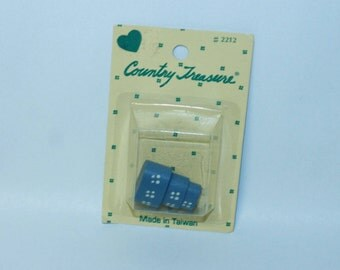 Country Treasure Minature Wooden Hat Boxes Blue Oblong 2212 Made In Taiwan Dollhouse, Shadowbox