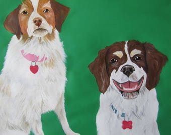 "Custom Pet Portrait - 8"" x 10"", Custom Pet Portrait Acrylic Painting, Pet Portrait by Amber Maki"
