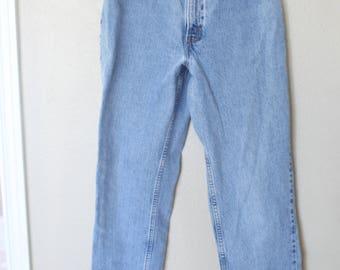 vintage 1980's high rise  levis 550 mom  jeans denim 30