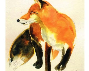 On the Prowl- greeting card with envelope